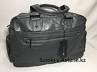 Дорожная сумка из экокожи JUXILONG. Высота 28 см,ширина 43 см, глубина 17 см., фото 1