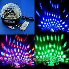 Сфера светодиодная для цветомузыки Crystal Magic Ball