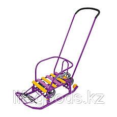 """Санки детские """"Тимка 3К универсал"""" с ручкой и колесами Ника Т3КУ, фото 2"""