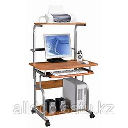 Компьютерный стол, Deluxe, DLFT-7800CT, Polaris, МДФ, 80*135*69 см, Красно-Коричневый, Полки для клавиатуры и