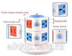 """Вертикальный разъем-удлинитель """"Vertical Multi-function Sockets+2 USB Port charging 2.1A for  iPHONE,iPAD"""""""