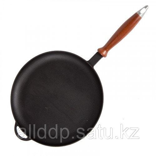 Чугунная сковорода для жарки блинов, 24*2 см