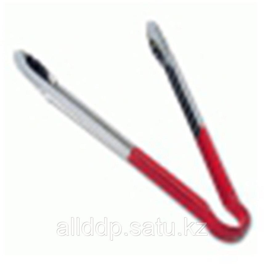 Щипцы универсальные, нерж.сталь, 30 см, красная рукоятка