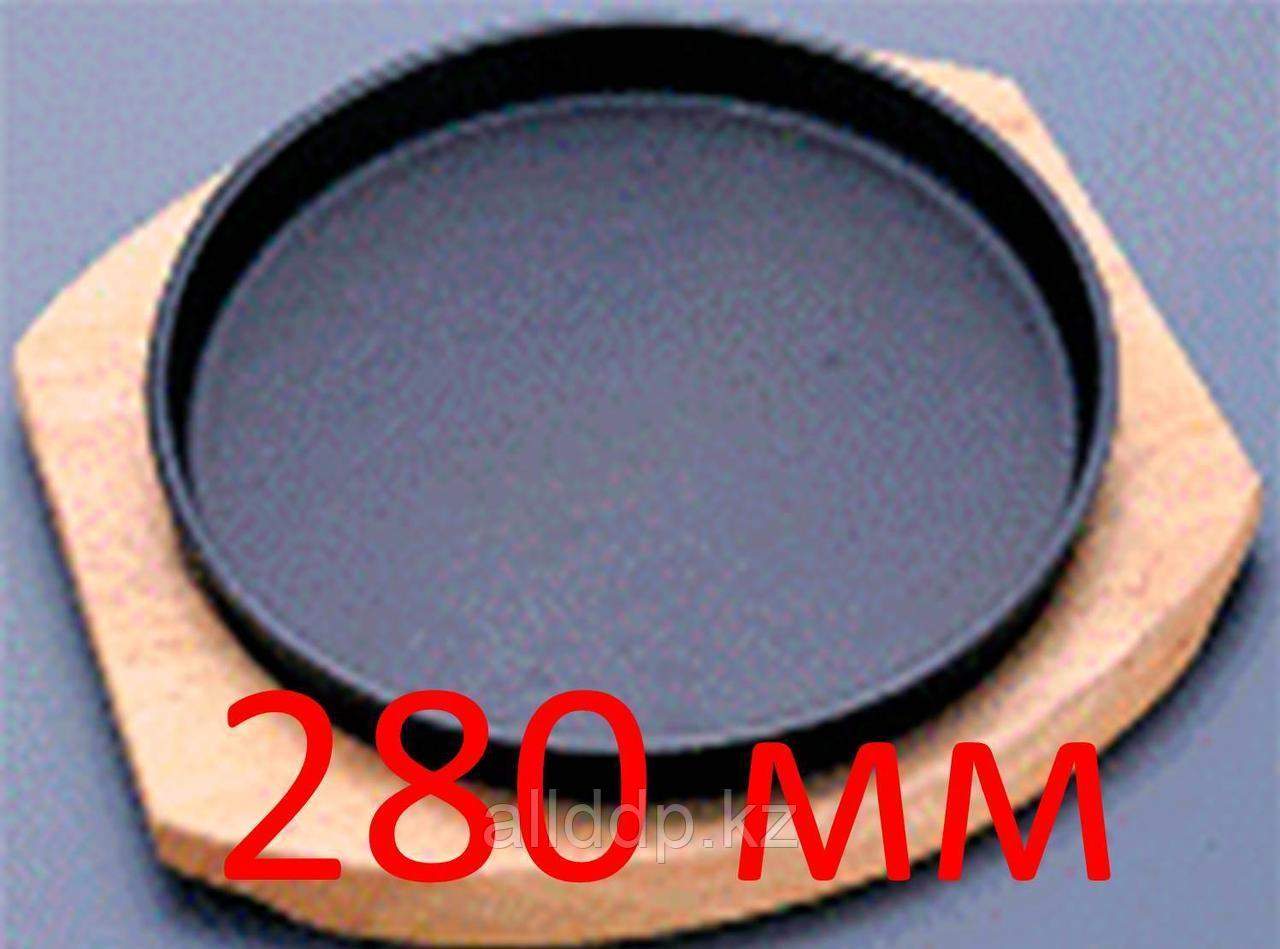 Сковорода-жаровня, круглая, на деревянной подставке, 280 мм
