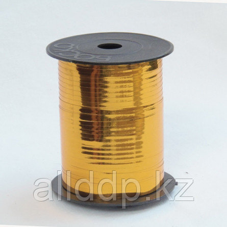 Лента упаковочная, бобина, золотая