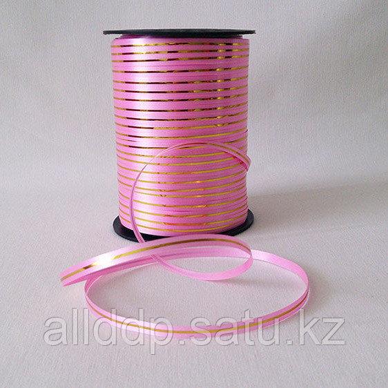 Лента упаковочная, бобина, розовая
