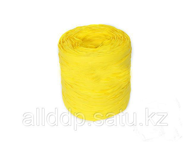 Лента-рафия упаковочная, желтая