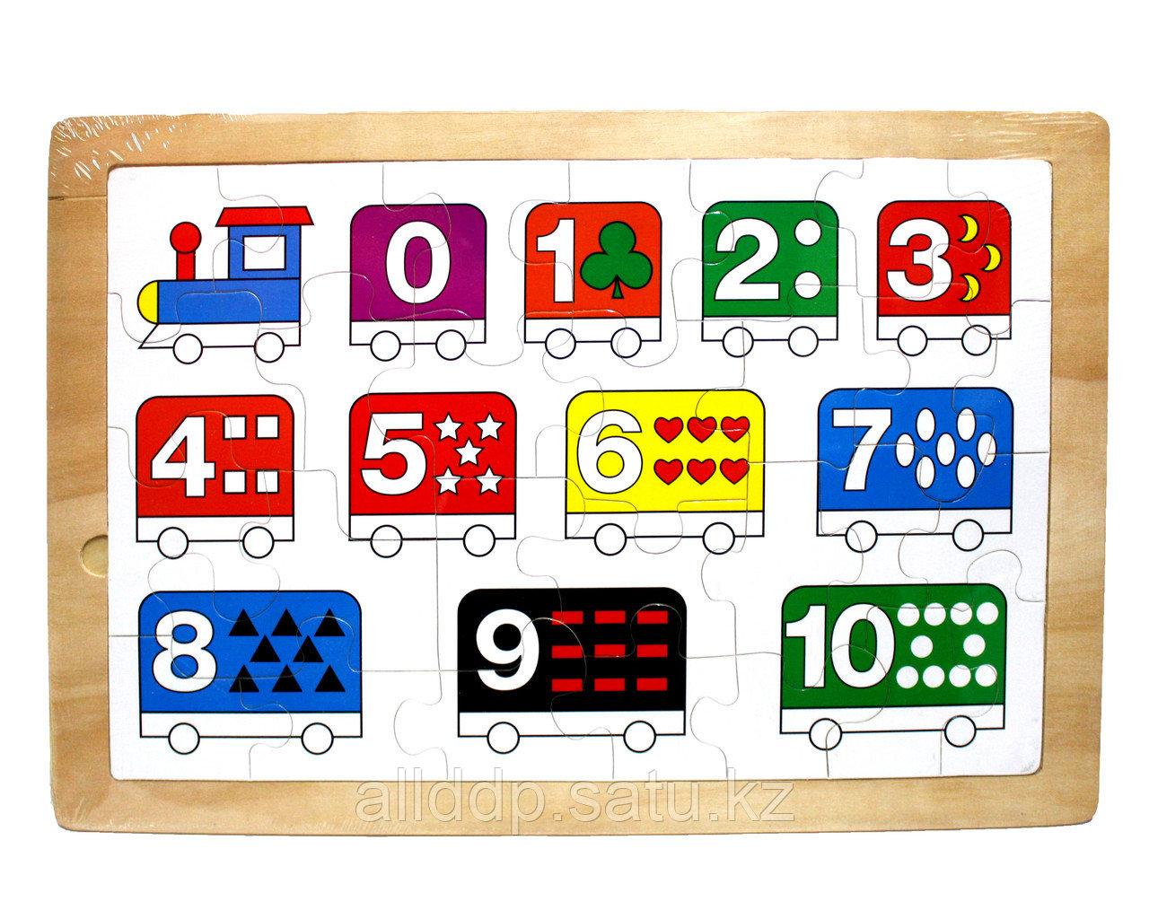 "Пазл для малышей ""Цифры поезд"", 45*22 см"