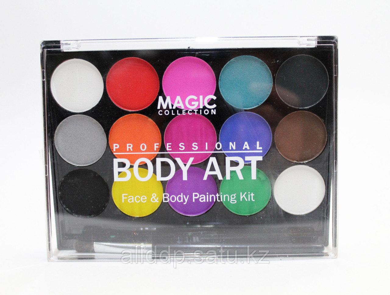 Аквагрим, краски для лица 15 цветов