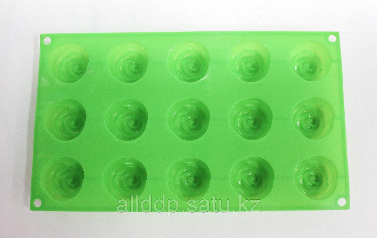 Силиконовая форма для кексов, прямоугольная, зеленая, 29*17 см