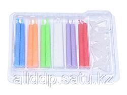 0921 FISSMAN Набор из 12 свечей c подставками для торта с разноцветным пламенем 5x50 мм, время горения 8 мин.