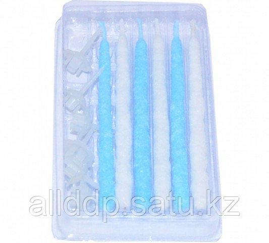 0924 FISSMAN Набор из 6 свечей с подставками для торта с синим цветом пламени 6x95 мм, время горения 15 мин.