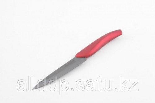 2244 FISSMAN Разделочный нож TORRO zirconium plus 10 см (чёрное  керамическое лезвие)