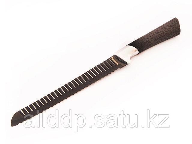 2336 FISSMAN  Хлебный нож ONYX 20 см с рифленым лезвием (нерж. сталь с цветным покрытием)
