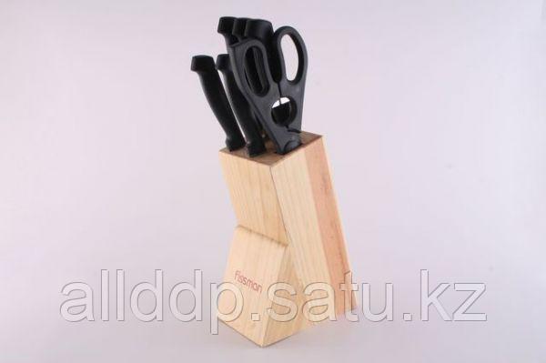 2623 FISSMAN Набор ножей 8 пр. FESTIVAL на деревянной подставке (нерж. сталь)