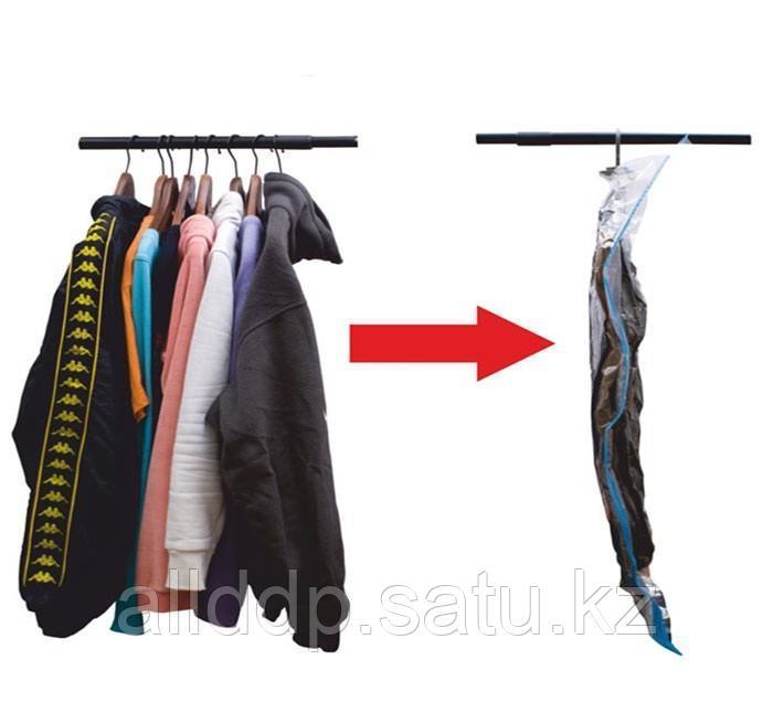 Вакуумный пакет для одежды на вешалке, 90*60 см