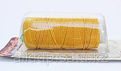"""Нить-резинка (спандекс) с текстильной оплеткой """"King Bird"""", желтая"""