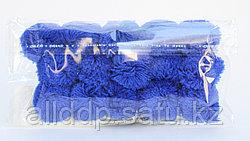 Помпоны декоративные из акриловой пряжи, 1.5 см, синие