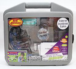 Микроскоп детский 28 предметов 300х-600х-1200х в кейсе