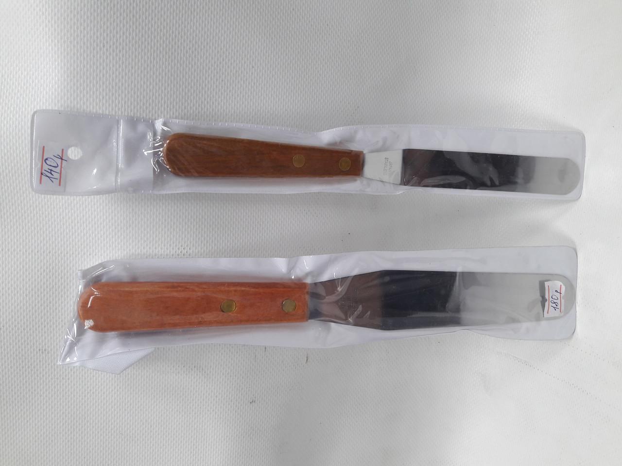 Кулинарная лопатка деревянная ручка 26 см