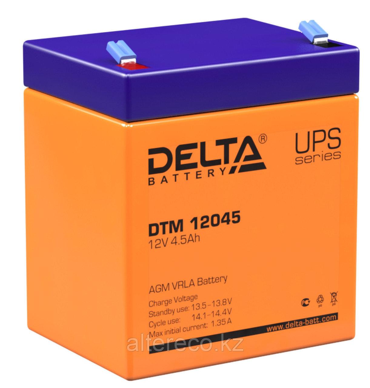 Аккумулятор Delta DTM 12045 (12В, 4,5Ач)