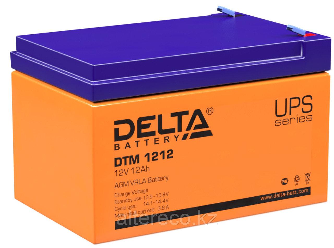 Аккумулятор Delta DTM 1212 (12В, 12Ач)