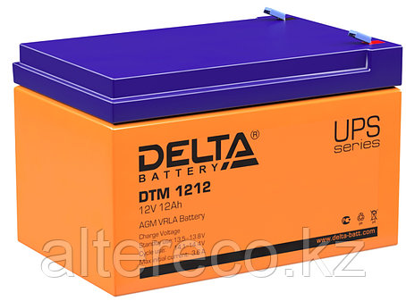 Аккумулятор Delta DTM 1212 (12В, 12Ач), фото 2