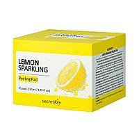 Secret Key Пилинг-салфетки с экстрактом лимона и BHA-кислотами Lemon Sparkling Peeling Pad / 70 шт.