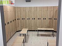 Шкафчики для одежды под дерево с электронными замками, фото 1