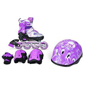 Роликовые коньки IN LINE Skate Blue M, фото 2