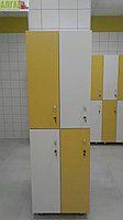Шкаф для раздевалки 2-секционный 4-местный, фото 1
