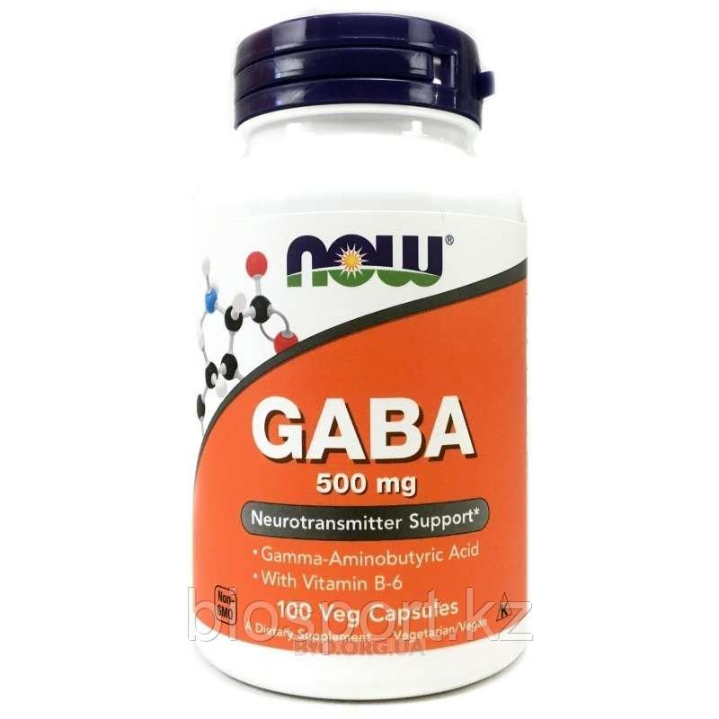 Now Foods, GABA 500 мг, 100 капсул