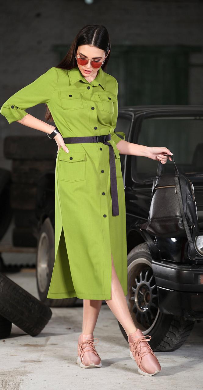 Платье DOGGI-3633/3, салат, 42