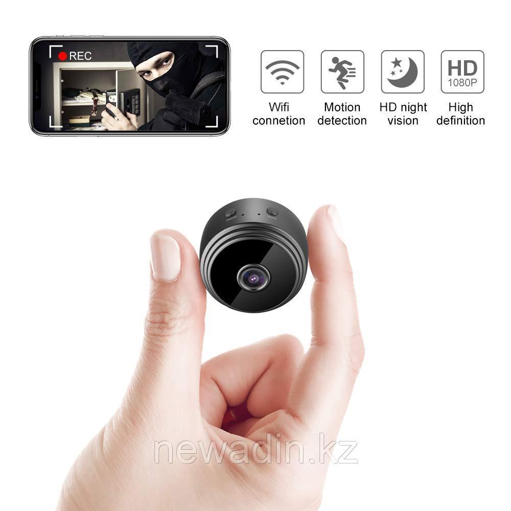 Мини камера Ful HD с ночным виденьем и датчиком движения
