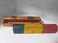 Деревянная подставка для благовоний, большая, с отсеком для хранения