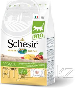 Schesir BIO Adult, Шезир  БИО сухой корм для кошек 400гр