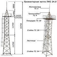 Прожекторная мачта ПМС – 24,0