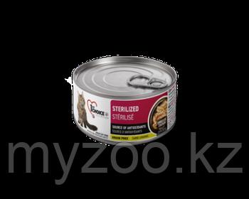 1st Choice (Фест Чойс) влажный корм для кошек Sterilized, КУРИЦА с САРДИНАМИ   85 гр