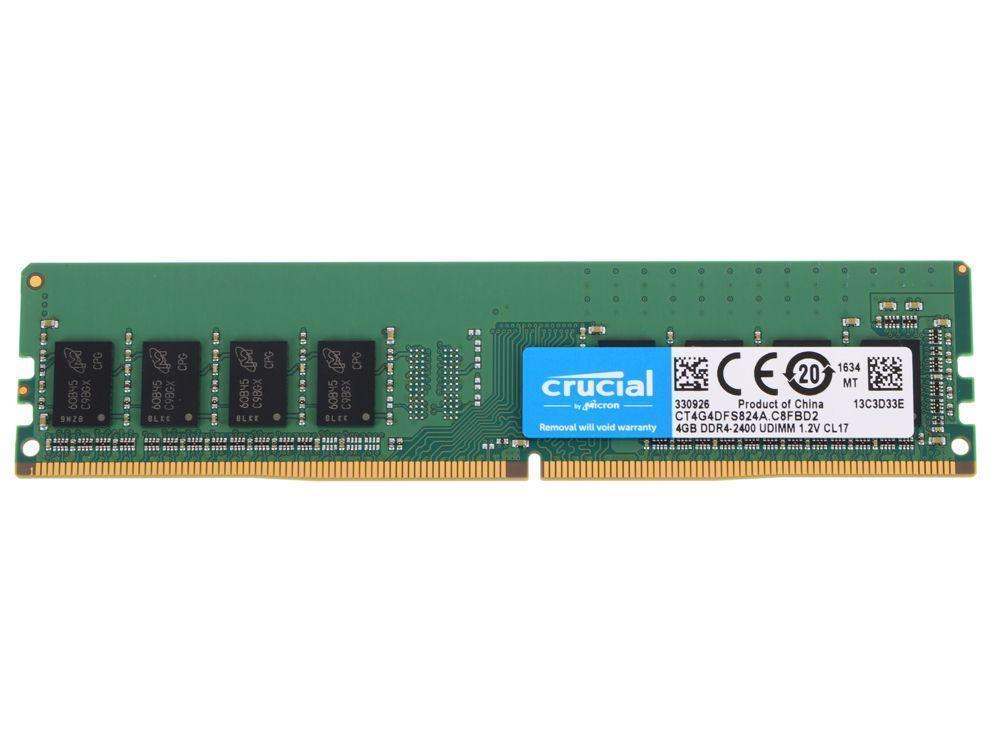 Оперативная память 8GB DDR4 2400 MHz Crucial PC4-19200 Unbuffered NON-ECC 1.2V CT8G4DFS824A