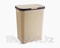 Корзина плетеная для белья с крышкой, фото 3