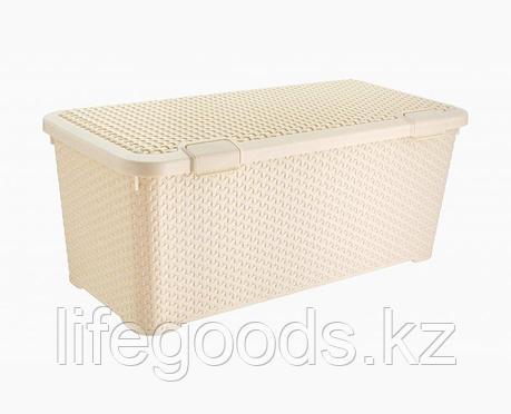 Ящик Люкс плетеный с крышкой L, фото 2