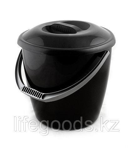 Ведро «Удачное» Эконом 10 литров с крышкой, фото 2