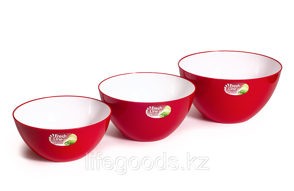 Миска двухцветная «Fresh Line», бело-красная