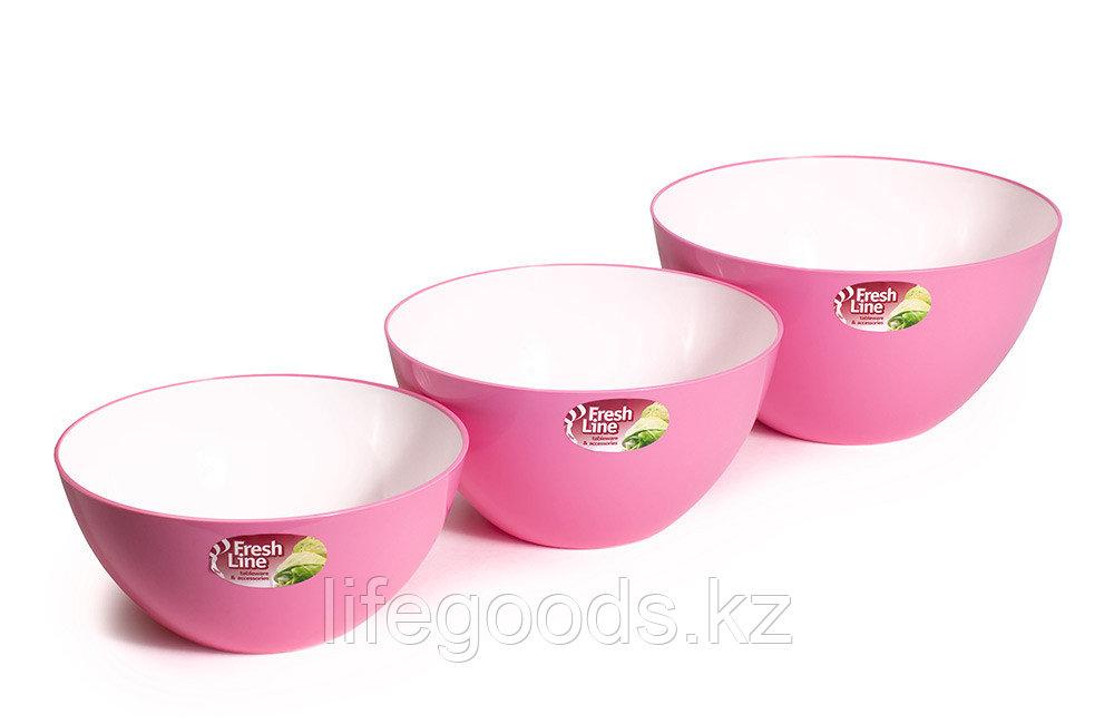 Миска двухцветная «Fresh Line», бело-розовая