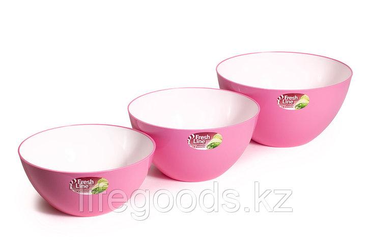 Миска двухцветная «Fresh Line», бело-розовая, фото 2