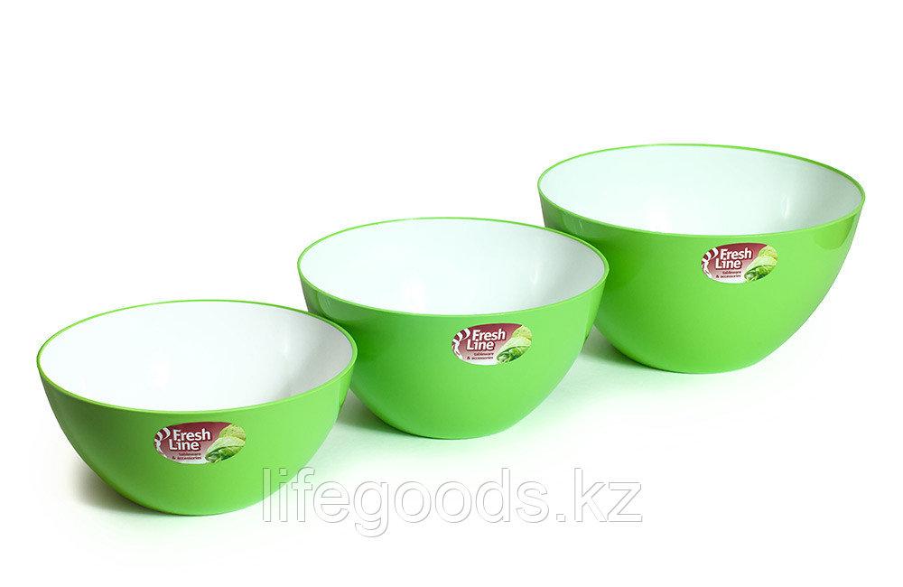 Миска двухцветная «Fresh Line», бело-зеленая