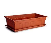 Ящик для рассады и цветов с поддоном «Домашняя грядка» терракотовый