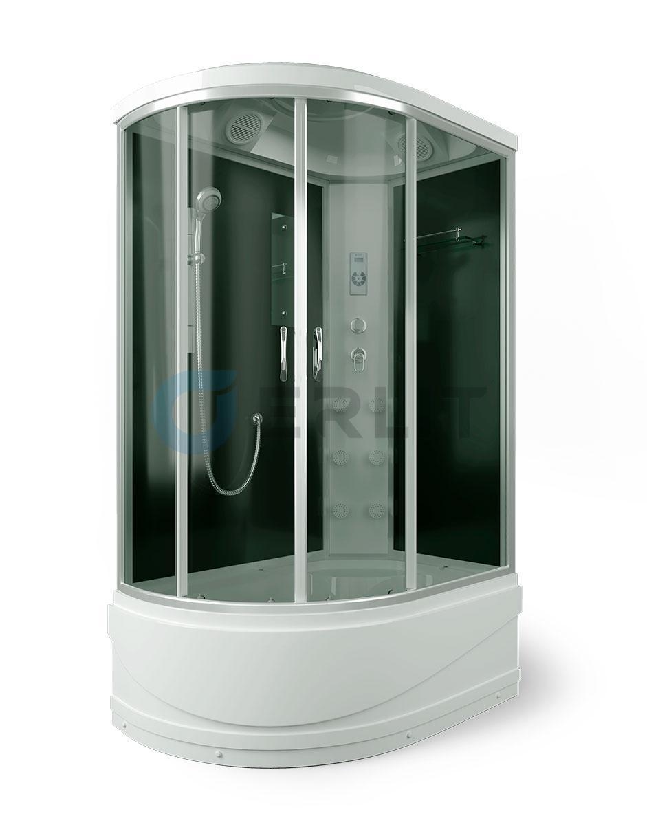 Душевая кабина ER4512TPR-C4 1200*800*2150 высокий поддон, тонированное стекло, правосторонняя