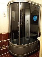 Душевая кабина ERLIT ER3512TPR-C4 высокий серый поддон, тонированное стекло