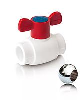 Шаровой кран из ППР с шариком из латуни для горячей воды Ø 20